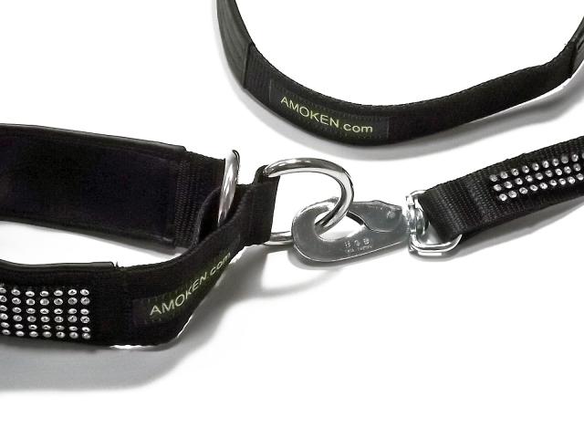 犬の首輪・リード(中型犬・大型犬用)|AMOKEN シルバーブリング セットでお安いセール価格になりお得です!|犬グッズ通販HAU(ハウ)