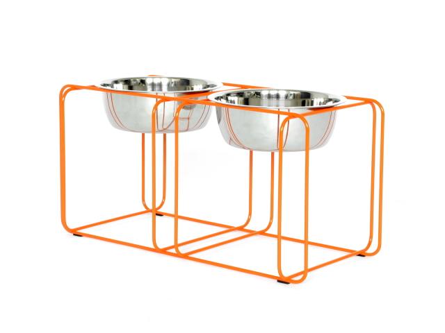 ワイヤー&ダイン Mサイズ Doca Pet(高さのある犬用食器台/フードボウル)|犬グッズ通販HAU