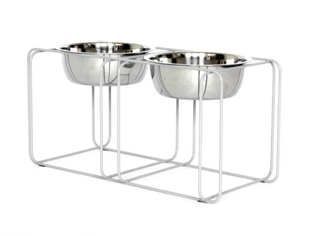 ワイヤー&ダイン Doca Pet(高さのある犬用食器台/フードボウル)|犬グッズ通販HAU|グレー