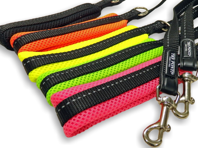 柔らかい、優しい握り心地の小型犬用リード|ソフトメッシュリーシュ  トレ・ポンティ Tre Ponti|犬グッズ通販HAU