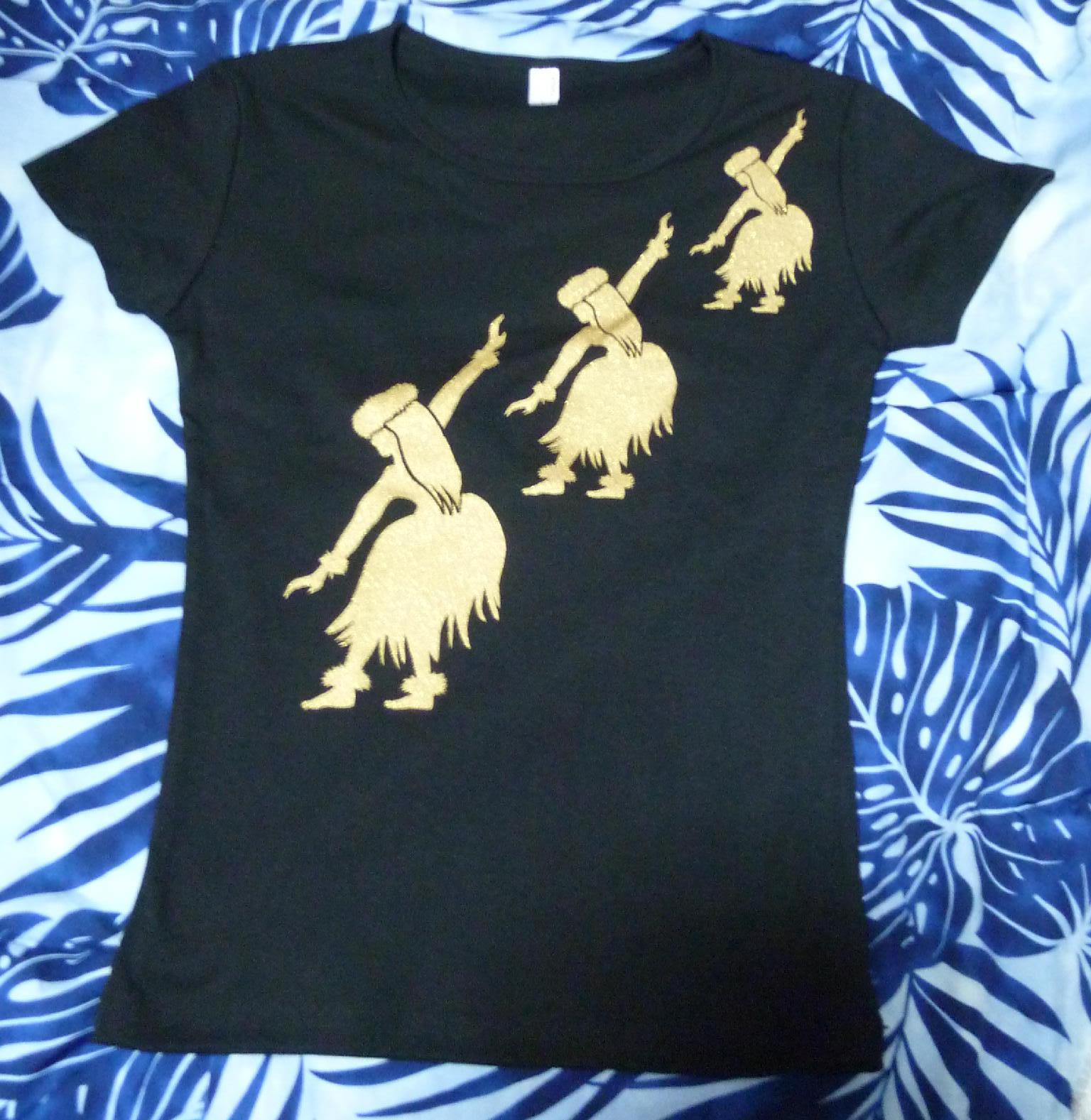オリジナル フラガール柄Tシャツ