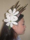 ティアレの髪飾り(タヒチアン調)