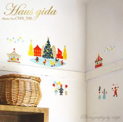 【クリスマスマーケット】切り絵作家CHIKUのクリスマスマーケット【ゆうパケット対応・A4サイズ】