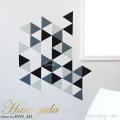 【チョークボード・パターン】[形:正三角形][カラー:Eグループ]チョークで描ける 貼ってはがせる ウォールステッカー/実用新案登録第3207058号