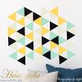 【チョークボード・パターン】[形:正三角形][カラー:Cグループ]チョークで描ける 貼ってはがせる ウォールステッカー/実用新案登録第3207058号