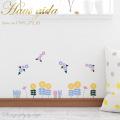 【ひまわりと爽やかな花】ウォールステッカーで楽しむ切り絵作家CHIKUの世界【ゆうパケット対応・A4サイズ】美しいシルクスクリーン印刷