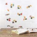 【木の葉あわせ】ウォールステッカーで楽しむ切り絵作家CHIKUの世界【ゆうパケット対応・A4サイズ】美しいシルクスクリーン印刷