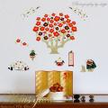 【梅正月】ウォールステッカーで楽しむ和の行事【ゆうパケット対応・A4サイズ】美しいシルクスクリーン印刷