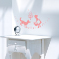 【赤ずきん(ピンク)】【ゆうパケット対応】貼ってはがせるウォールステッカー・日本製・シルクスクリーン印刷