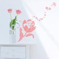 【おやゆび姫(ピンク)】【ゆうパケット対応】A4サイズ 貼ってはがせるウォールステッカー・日本製・シルクスクリーン印刷