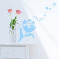 【おやゆび姫(ブルー)】【ゆうパケット対応】貼ってはがせるウォールステッカー・日本製・シルクスクリーン印刷