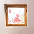 【しらゆき姫 (ピンク)】【ゆうパケット対応】貼ってはがせるウォールステッカー・日本製・シルクスクリーン印刷4