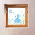 【しらゆき姫 (ブルー)】【ゆうパケット対応】貼ってはがせるウォールステッカー・日本製・シルクスクリーン印刷