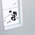 【にんぎょ姫(黒)】【ゆうパケット対応】貼ってはがせるウォールステッカー・日本製・シルクスクリーン印刷