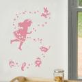 【ふしぎの国のアリス (ピンク)】【ゆうパケット対応】貼ってはがせるウォールステッカー・日本製・シルクスクリーン印刷