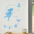 【ふしぎの国のアリス (ブルー)】【ゆうパケット対応】貼ってはがせるウォールステッカー・日本製・シルクスクリーン印刷