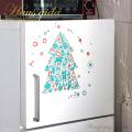 【消臭抗菌・きらきらグリーンのクリスマスツリー】A4サイズ貼ってはがせるウォールステッカー・日本製【ゆうパケット対応】