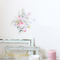 【バラと水仙たちのブーケ】貼ってはがせる ウォールステッカー 池端禎三の描くバラシリーズ【ゆうパケット対応・A4サイズ】日本製