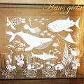 【飛散防止・南国の生き物】 ガラス飛散防止ステッカー A4 日本製 【ゆうパケット対応】