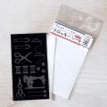 【メール便対応】【アイロンで布に転写できる】フロッキー転写シート 裁縫箱(黒)