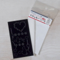 【メール便対応】【アイロンで布に転写できる】フロッキー転写シート リス(黒)