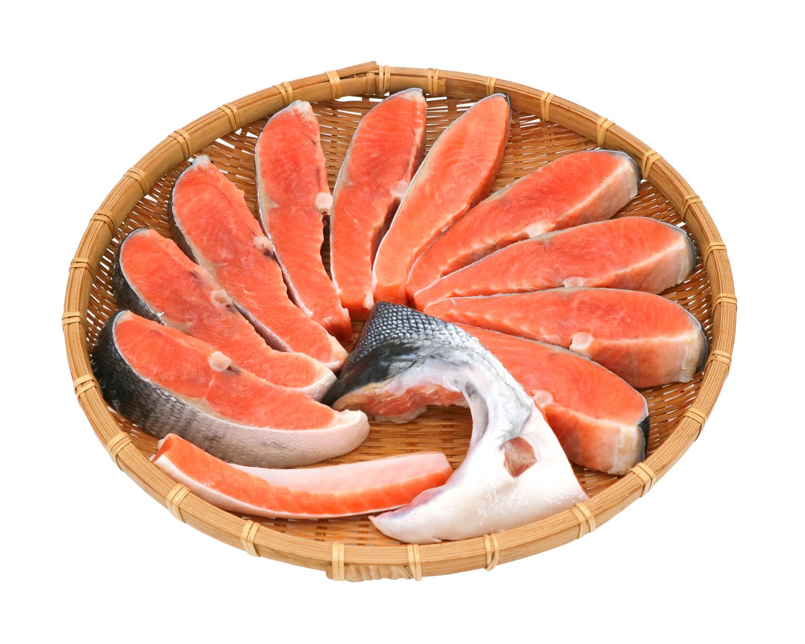 銀鮭甘口10切れ カマハラス付き
