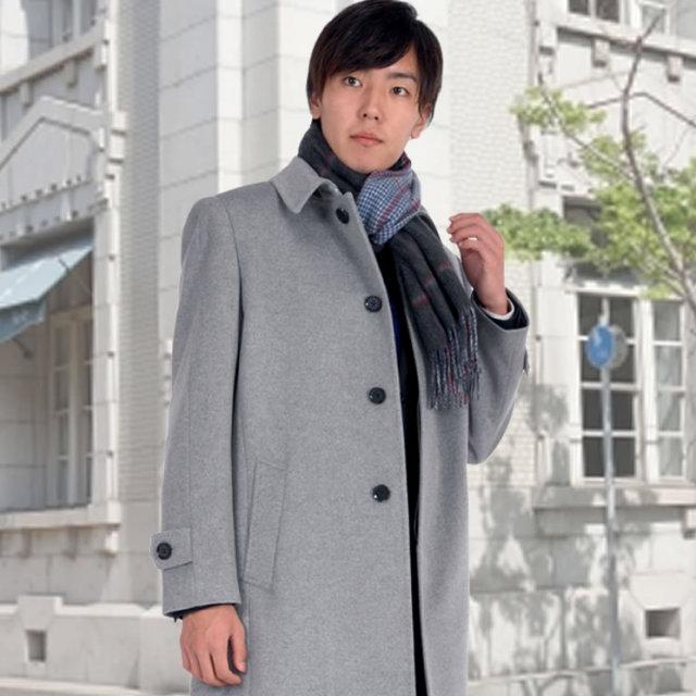 メンズ マフラー カシミヤ リバーシブル グレン チェック フリンジ 付き 厚手 送料無料!! (CS2199)