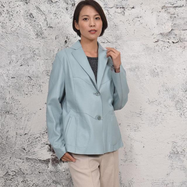 【送料無料】【皮製品】【レディース 婦人用】レザーリバーシブルジャケット(LA4961)