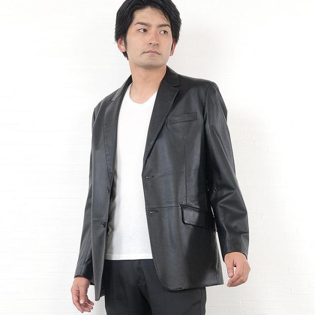 ラム メンズ ジャケット テーラード 二つボタン (MZR1964)【20210601-20】