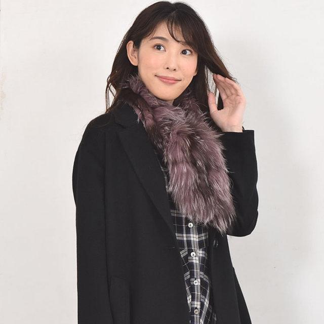 シルバーフォックス編みこみマフラー(SM1284)
