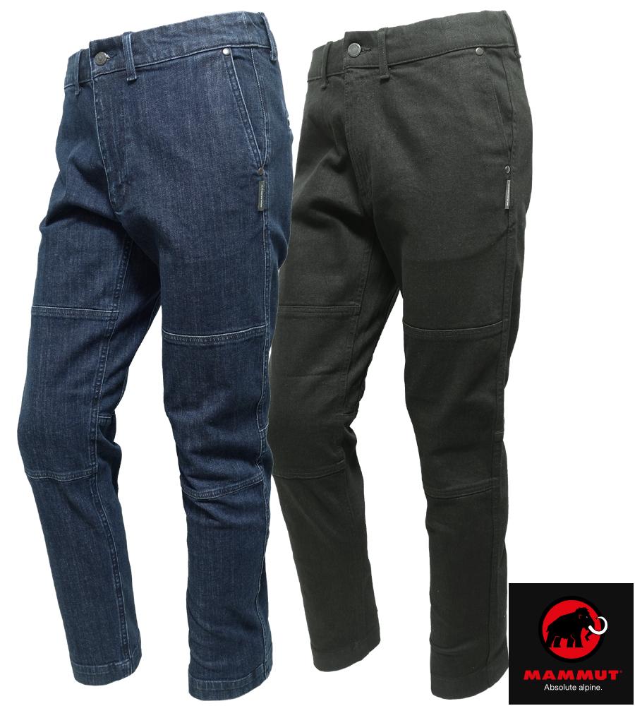 送料無料【マムート/MAMMUT】チョークボルダーパンツ/CHALK Boulder Pants Men 1022-00330 ストレッチ性クライミングデニムパンツ・ボルダリングパンツ