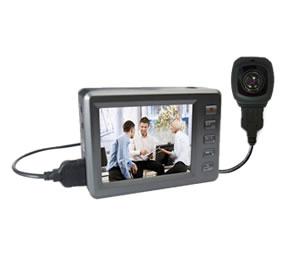 防犯カメラ 小型 SDカード録画 セット エンジェルアイ HD2 モニター付 防犯カメラ録画セット 偽装型 (Angel-Eye AN-HD2)