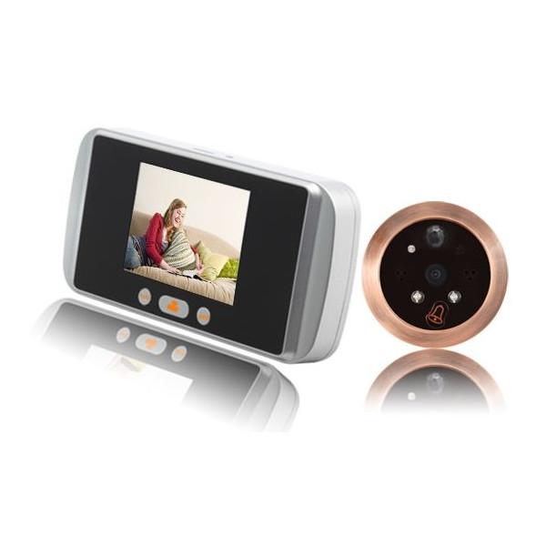 ドアカメラ 人感センサー付き ドアスコープカメラ BSC-006N 扉 防犯カメラ