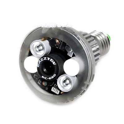 LEDライト電球型カメラ LEDライト用リモコン付 偽装型 MS-BS683H 電球型 ソケット 天井カメラ