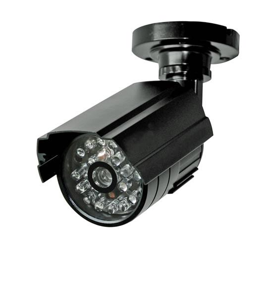 防犯カメラ ダミーカメラ LED付き屋外用 明るさセンサー内蔵ダミーカメラ DC-017IR