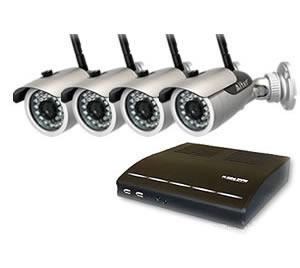 防犯カメラ ワイヤレス 屋外 家庭用 防犯カメラ 4台  高画質録画 セット  DVR-HDC04DX