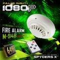 火災報知器型 小型カメラ 防犯カメラ ビデオカメラ M-948 1080P 暗視補正 動体検知 リモコン操作 64GB内蔵
