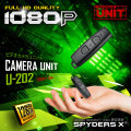 スパイダーズX 小型カメラ ビデオカメラユニット 防犯カメラ 1080P 128GB対応 スパイカメラ U-202