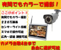 夜間でもカラー撮影! センサーライト搭載 ホワイトLED バリフォーカル ワイヤレス防犯カメラ 220万画素 WI-FI環境対応 台数自由 1台〜4台セット HDC-EGR04 イーグル NVR