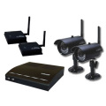 防犯カメラ ワイヤレス 屋外 (2台)+防犯ビデオ・録画機セット  DVR-HDC05WB2 (防水ワイヤレス)