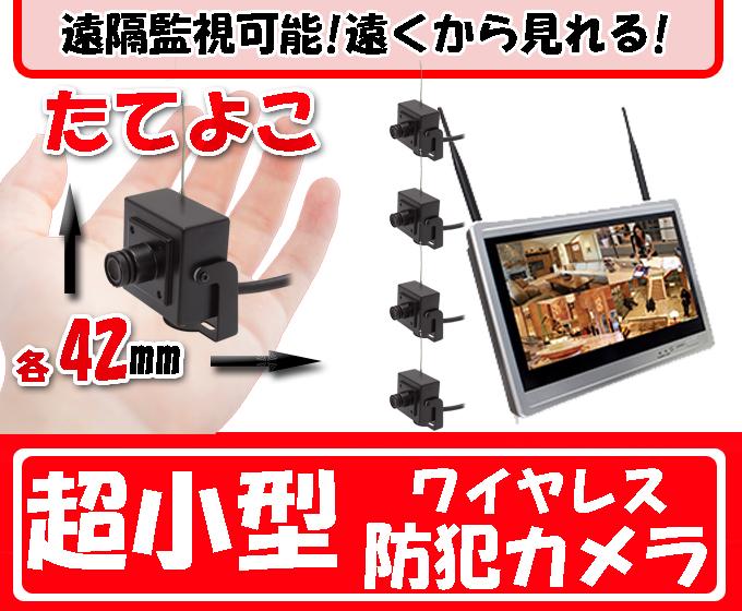 超小型!遠隔でみれる! ワイヤレス防犯カメラ ボードレンズ 小型ミニチュアカメラ 220万画素 防犯カメラ 監視カメラ WI-FI環境対応 台数自由 1台〜4台セット HDC-EGR09 イーグル NVR