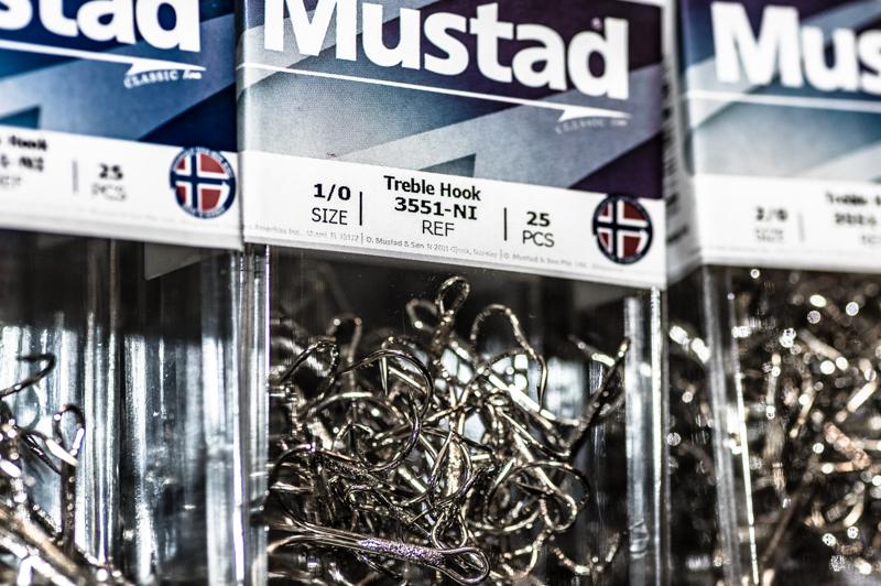 Mustad 『3551-NI Treble Hook 』25本パック