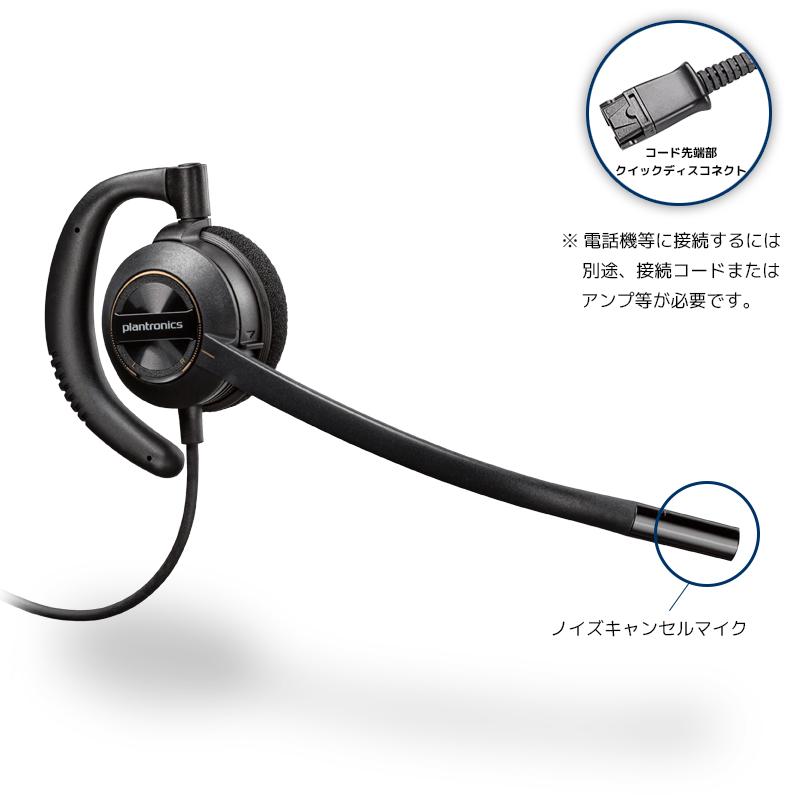 Plantronics(プラントロニクス) HW530 耳掛け、ノイズキャンセル機能