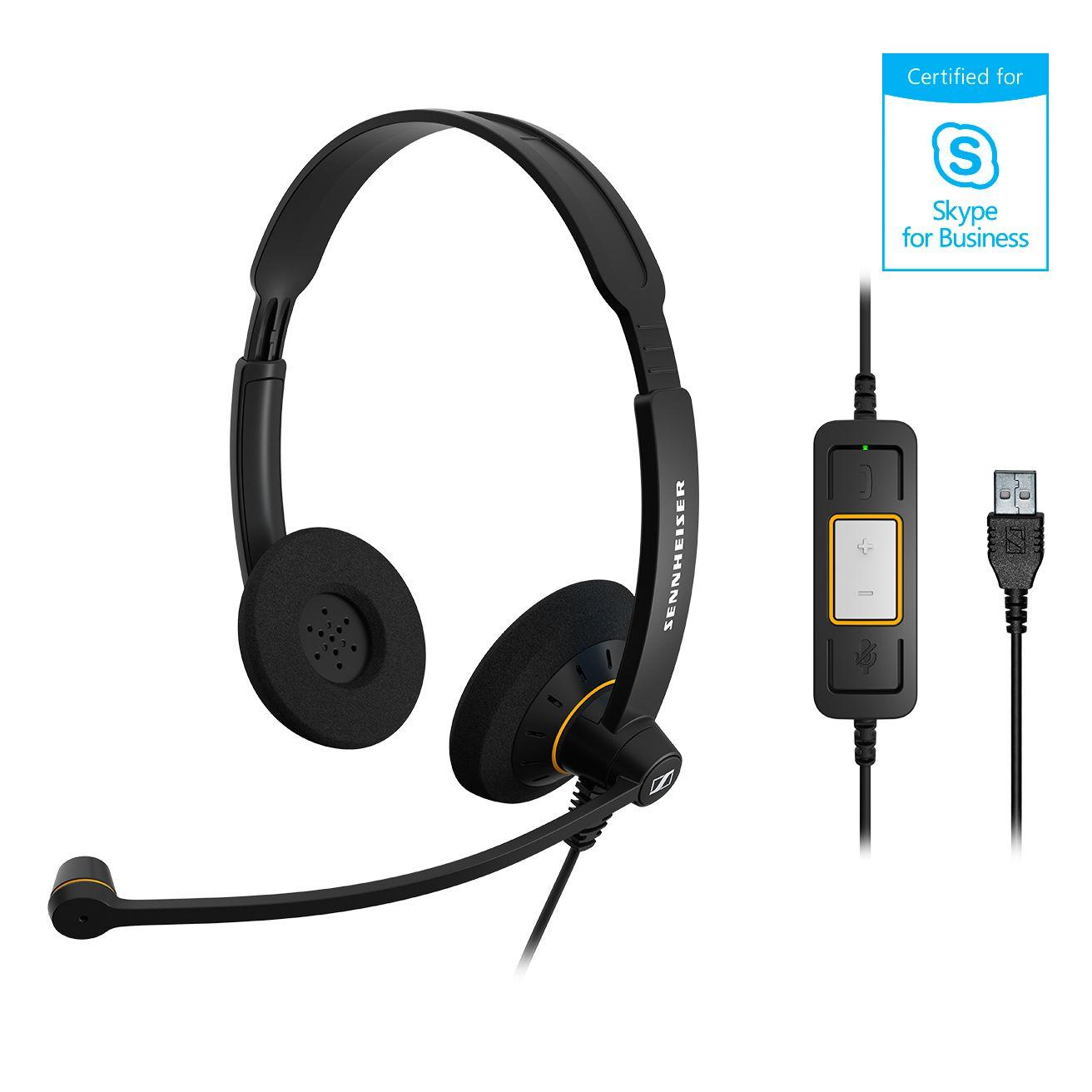 SENNHEISER(ゼンハイザー) SC 60 USB ML USBヘッドセット(両耳)(USB一体型) USB接続ケーブル