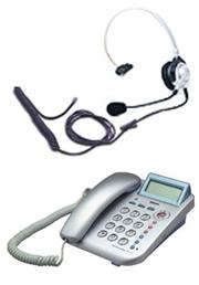 Dタイプ ヘッドセット+電話機 レンタル 1ヶ月間