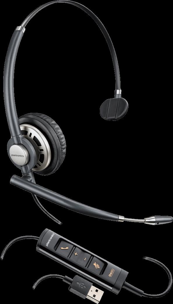 Plantronics(プラントロニクス) HW715 USB 片耳タイプ、オーバーヘッド、ノイズキャンセル機能 USBヘッドセット