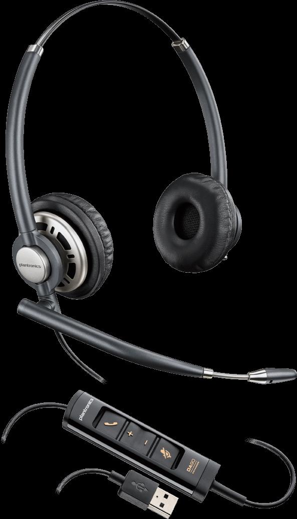 Plantronics(プラントロニクス) HW725 USB 両耳タイプオーバーヘッド、ノイズキャンセル機能 USBヘッドセット