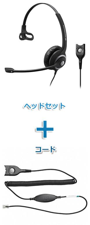 SENNHEISER(ゼンハイザー) SC 232 + CHS01 ヘッドセット(片耳)と特定電話機接続ケーブルセット商品