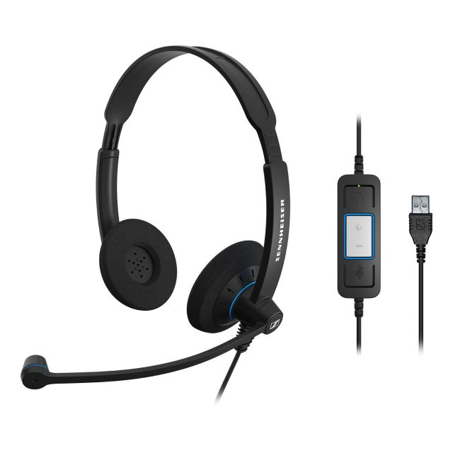 SENNHEISER(ゼンハイザー) SC 60 USB CTRL / 504549 USBヘッドセット(両耳)(USB一体型) USB接続ケーブル