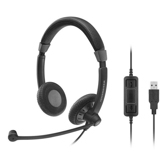 SENNHEISER(ゼンハイザー) SC 70 USB MS / 506502 USBヘッドセット(両耳)(USB一体型) USB接続ケーブル